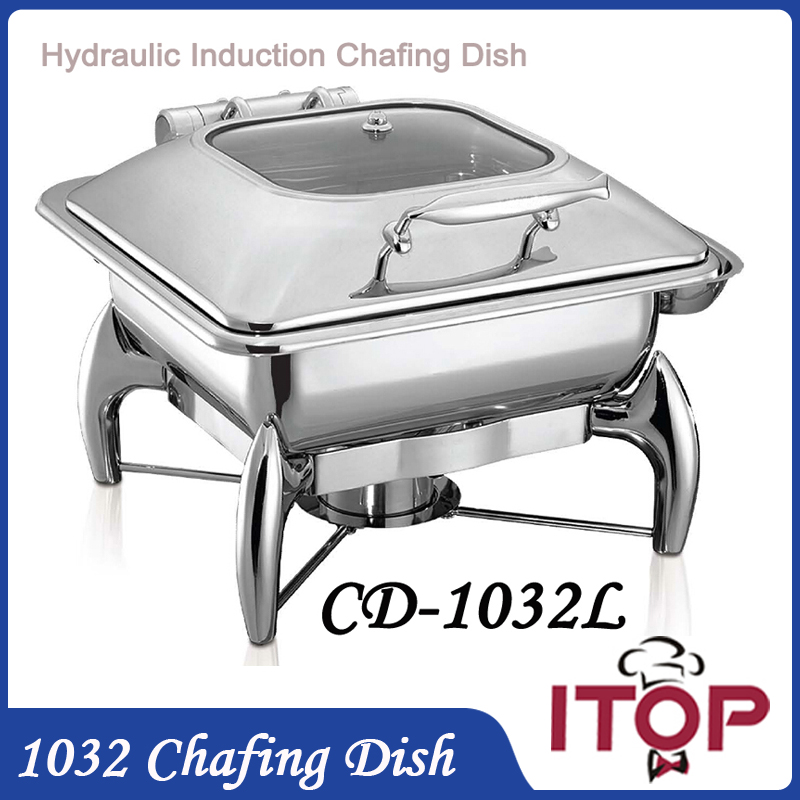 hydraulic induction chafing dish with 23gn food pan 6l buffet stove pot holloware boiler restaurant cafeteria