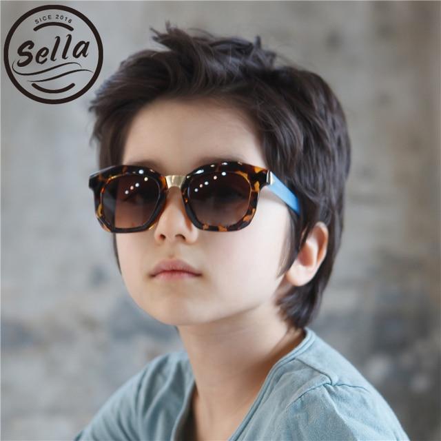 be3352732 Sella Venda Quente do Estilo Coreano Moda Infantil Óculos de Sol Tendências  Suqare Colorido Crianças Óculos
