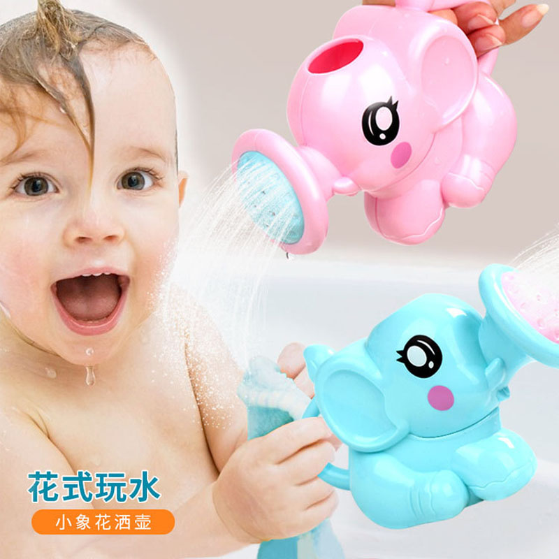 Baby cartoon elephant shower cup newborn child shower shampoo cup baby shower water spoon bath cup 2 color