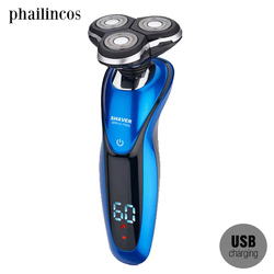 360 Completed Acute Shaving System Contour Detect LED Show Electric Shaver for Men Razor Usb Charging Machine for Shaving IPX7