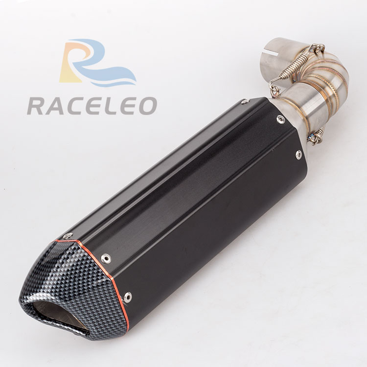 motorcycle exhaust full system CB1000R link pipe connector CB1000R muffler with mid pipe motorbike exhaust free shipping new motorcycle exhaust full stystem mid link pipe motorbike laser marking muffler for ducati scrambler with muffler