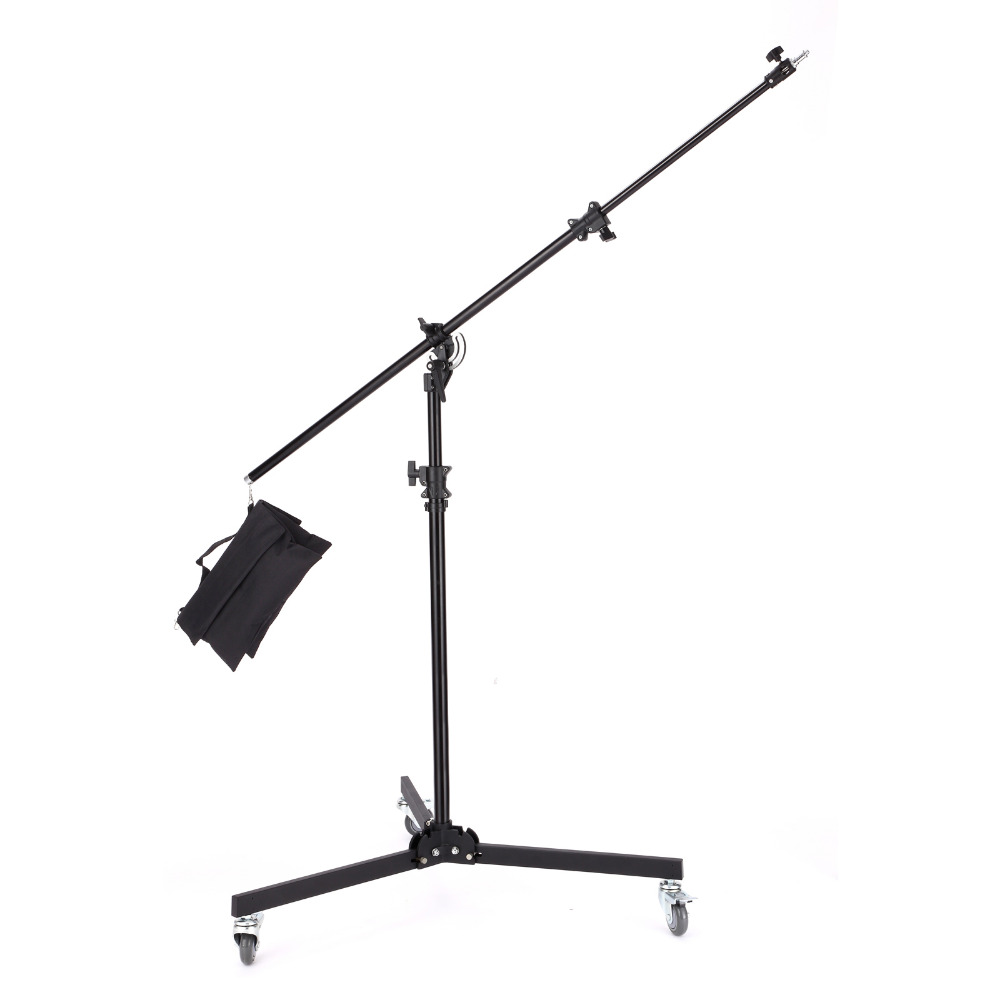 Meking 380cm 12ft 1Multi Function Light Boom stand Double Duty with Sand Bag support system Photo