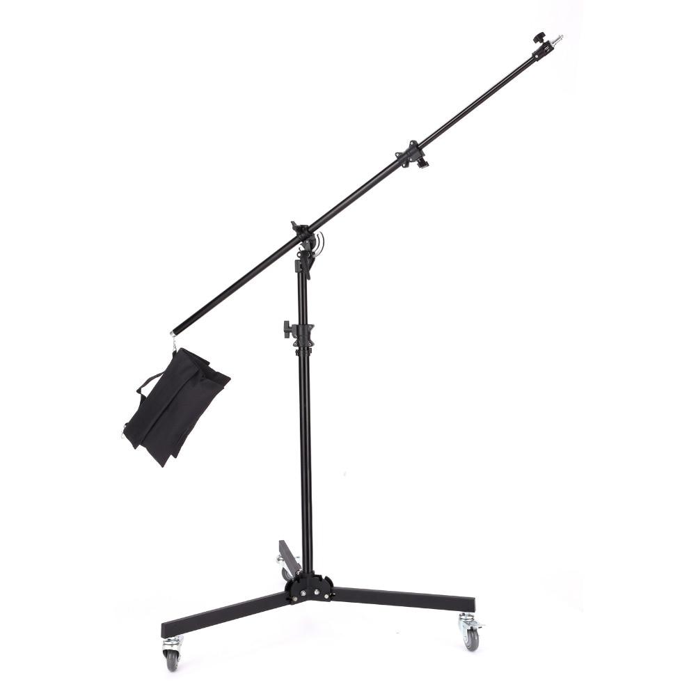 Meking 380センチ/12ft/1多機能ライトブームスタンドダブルデューティで砂袋サポートシステム写真スタジオアクセサリー  グループ上の 家電製品 からの フォトスタジオ用アクセサリー の中 1