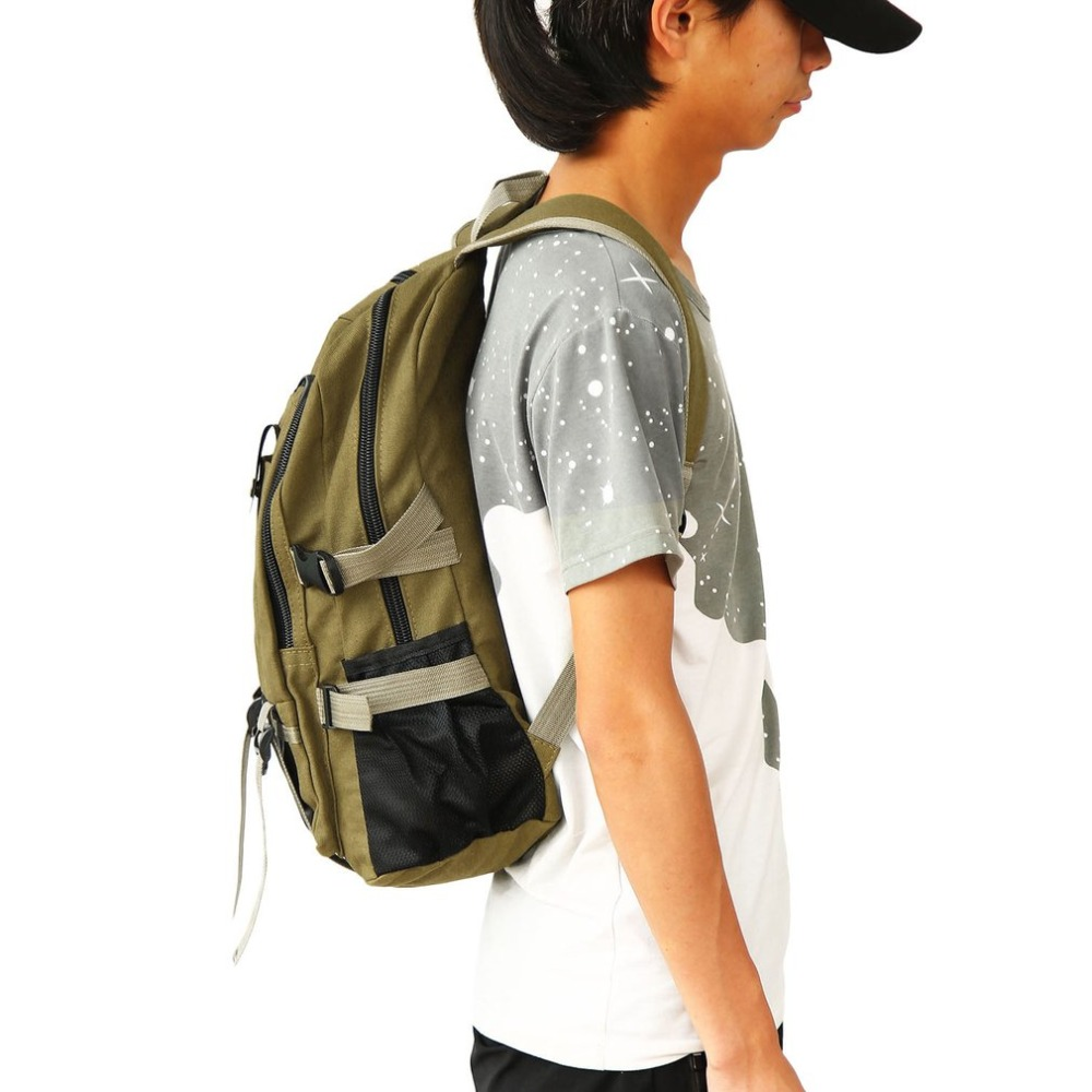 Multifunction men lona mochila escolar vintage bolsa