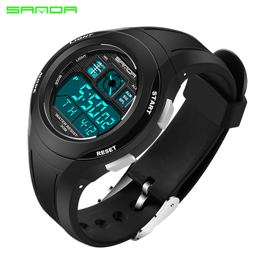 SANDA Top LED Digital Children Watch Kids Watches Girls Boys Clock Child Sport Wrist Watch Electronic For Girl Boy Surprise Gift