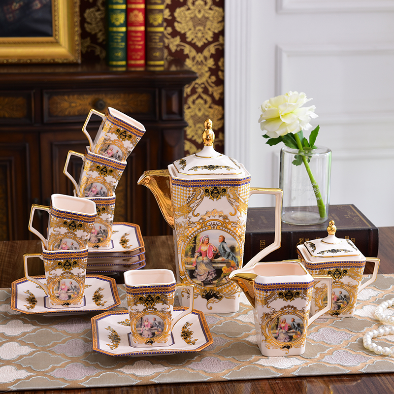 British Coffee sets Bone china High-end European tea sets Creative afternoon tea sets Teapots and cups set Home decorationsBritish Coffee sets Bone china High-end European tea sets Creative afternoon tea sets Teapots and cups set Home decorations