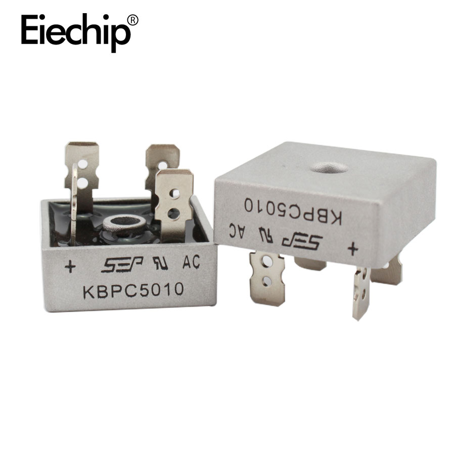 2PCS KBPC5010 diode bridge rectifier diode 50A 1000V KBPC 5010 power rectifier diode electronica componentes противотуманки bmw e60