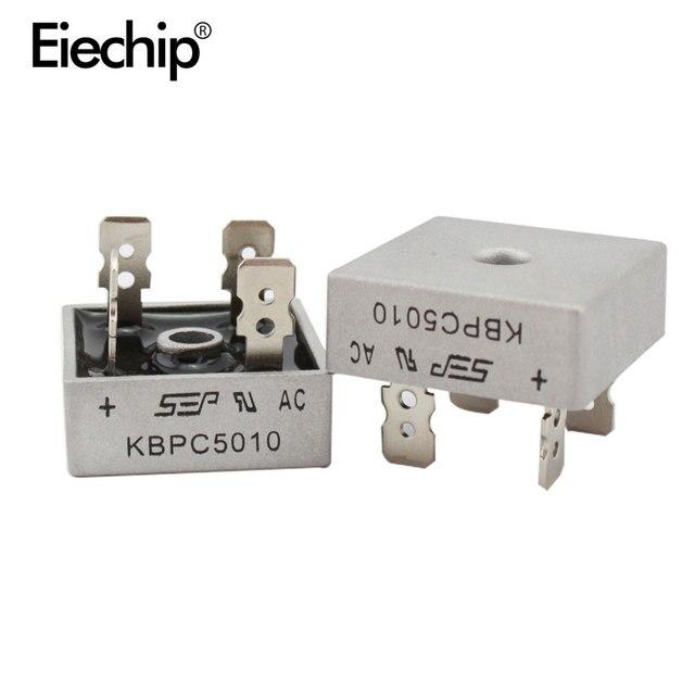 2 PCS KBPC5010 مقوم الجسر الثنائي ديود 50A 1000 V KBPC 5010 صمام ثنائي مقوم للطاقة إلكترونيكا componentes