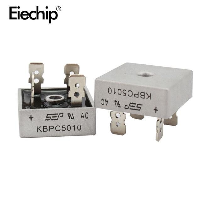 2 PCS KBPC5010 diode cầu chỉnh lưu diode 50A 1000 V KBPC 5010 điện chỉnh lưu diode electronica componentes