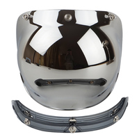 Bubble Shield For Biltwell 3 Snap Motorcycle Helmet Visor Vintage Scooter Lens With Flip Up Adapter