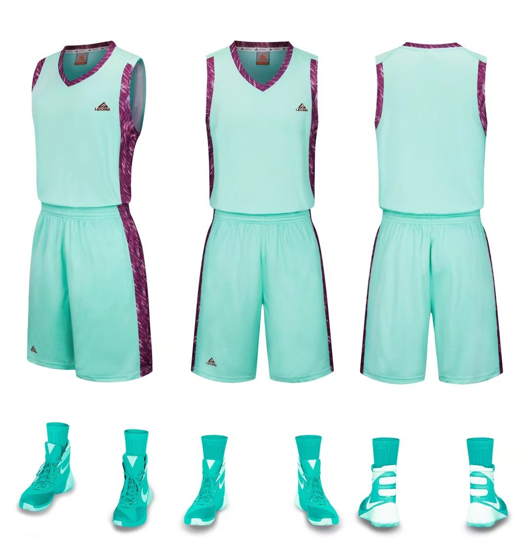 daf5bd4399b LiDong new basketball jerseys sport uniform with sleeveless shirts   shorts  Team trainning sets