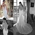 Часовня Поезд Кружева Sexy Русалка Свадебные Платья Милая С Аппликациями 2017 Sheer Платья Для Роскошные Сшитое Платье Невесты