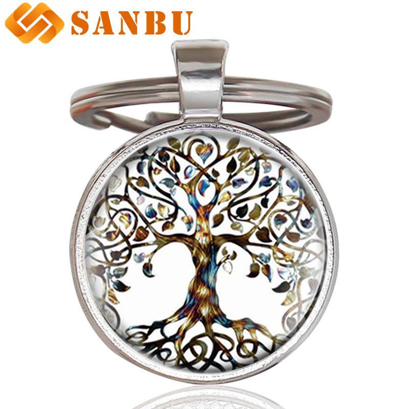 New Arrivals Tree Of Life Key Chain Charm Fashion Friendship Keychains For Women