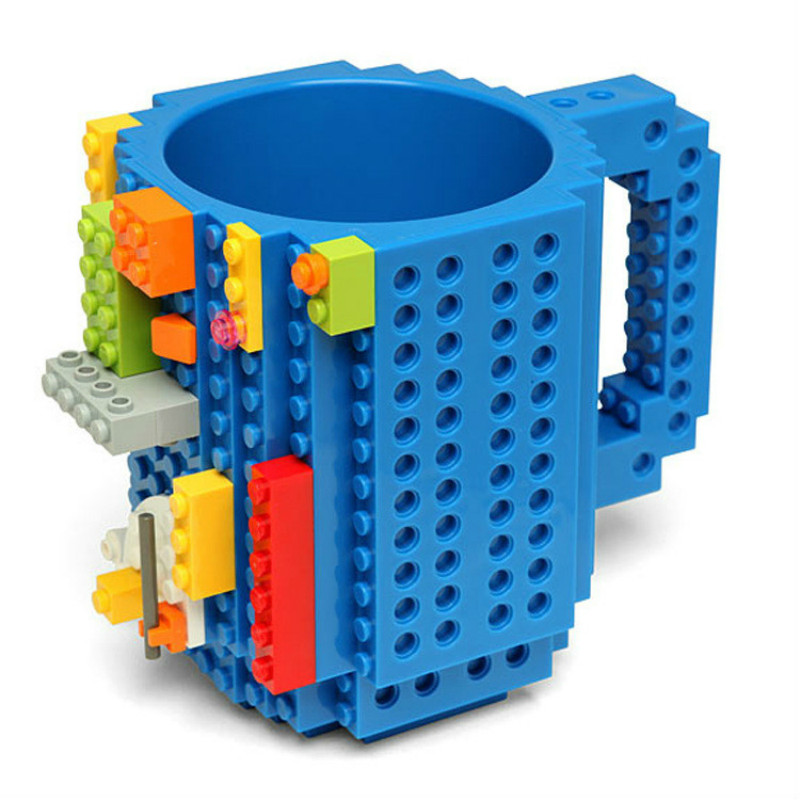 350ml Building blocks Mug DIY cup Adult assembly Coffee Cup Toys Puzzle Cup Water Bottle Coffee