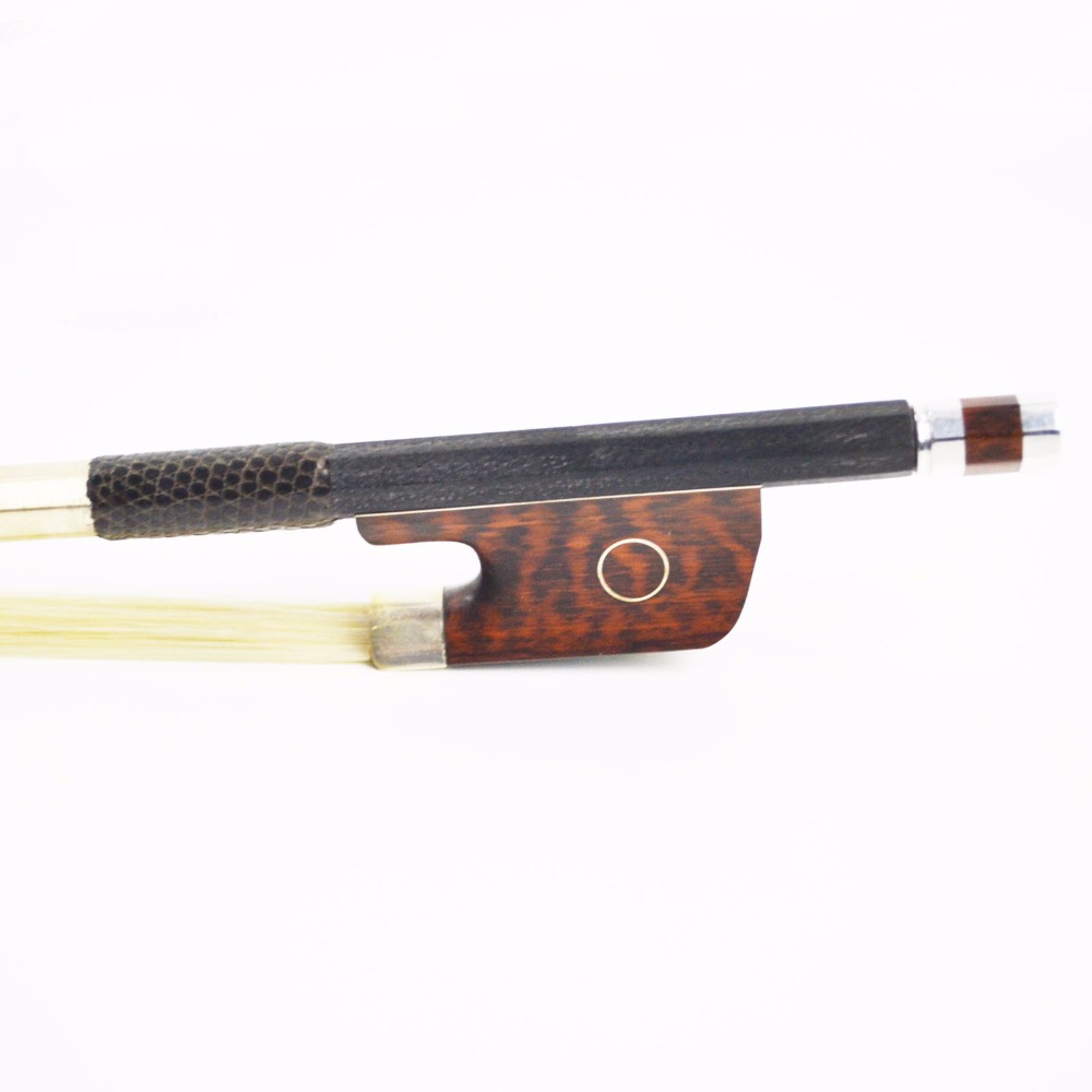 마스터 탄소 섬유 CELLO BOW 좋은 Snakewood 개구리 스트레이트 강한 대단한 균형과 유연성