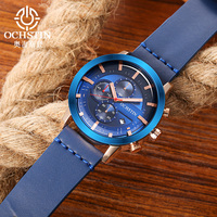 OCHSTIN Men's Watches Top Luxury Brand Designer Sports Business Military Quartz Wristwatches unique chronograph gifts For Male