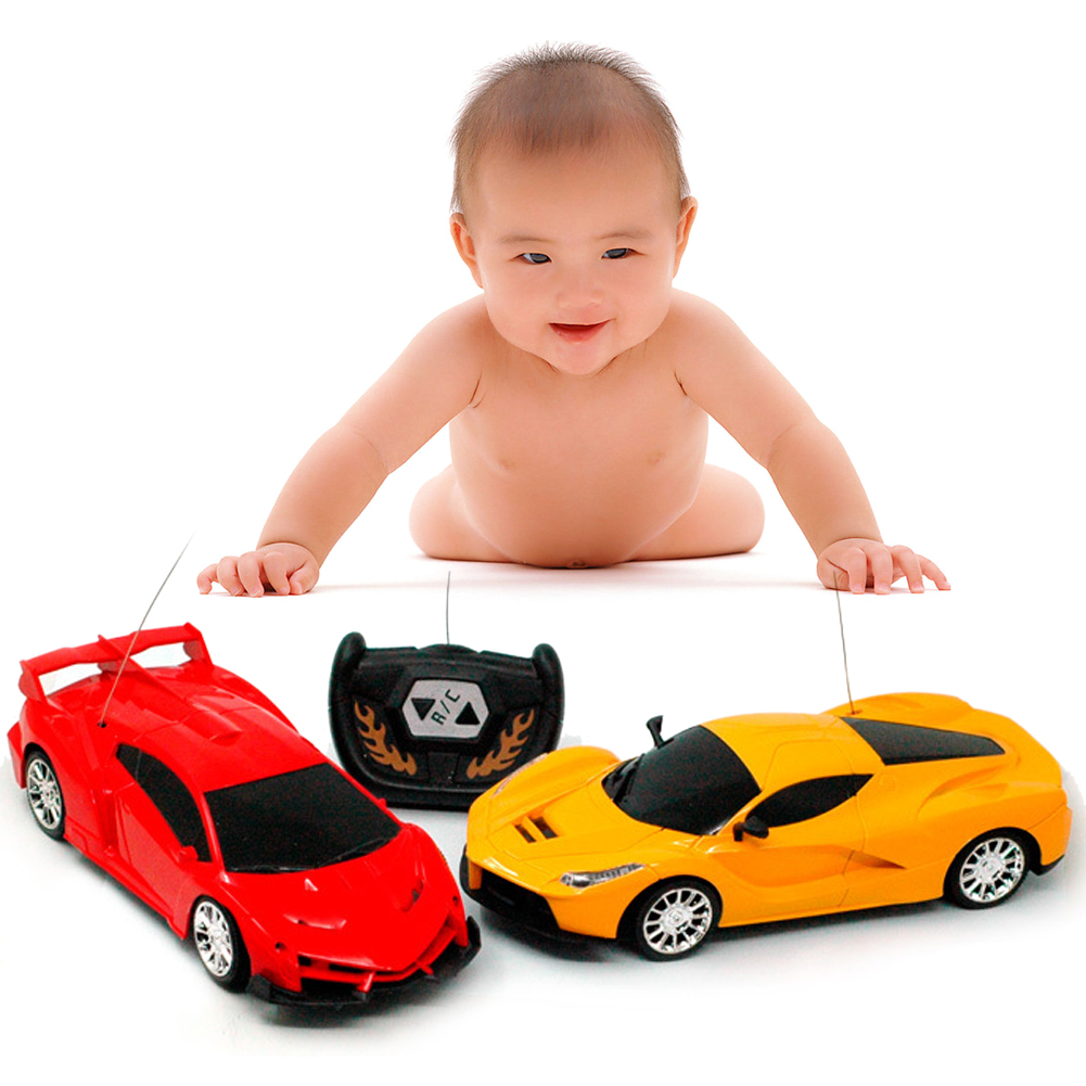 1:24 <font><b>Scale</b></font> 2CH <font><b>RC</b></font> <font><b>Car</b></font> Model Kids Children Simulation Remote Control <font><b>Car</b></font> Toy 1 Pc New <font><b>RC</b></font> <font><b>Car</b></font> Christmas Gift Random Color And Type image