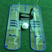 New Golf Putting Mirror Alignment Training Aid Swing Trainer Eye Line Golf Practice Putting Mirror Large