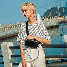 Women's Waist Bag  High Capacity PU leather Chain Multilayer Fanny Pack Bananka Bag For The Belt bum bag Belly Band Belt Bag