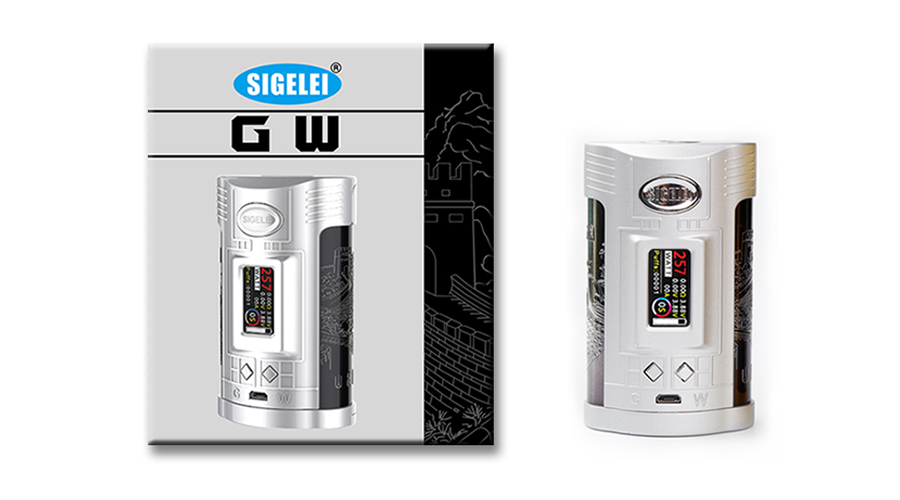 Original 257W Sigelei GW 20700 TC Kit with Sigelei GW MOD 257W & F Tank 4.5ml & 1.0-inch TFT Color Screen No Battery E-cig Kit original module bl67 gw dpv1
