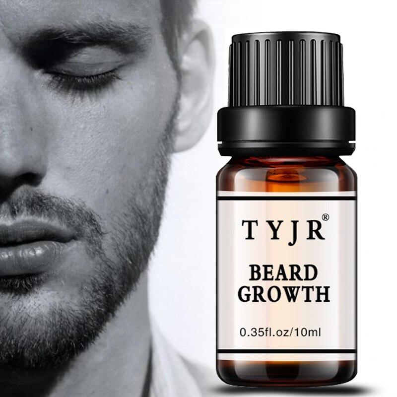 Natural Organic Beard Oil 10ML Men Beard Growth Fluid Beard Wax balm Leave-In Conditioner For Groomed Hair Growth Essential oil