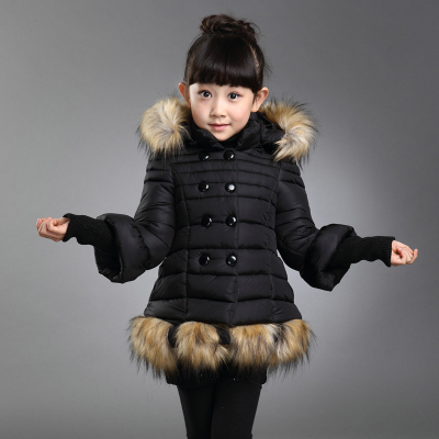 3c2c3d699 new arrival high quality girls winter coat with fur hood and fur hem ...