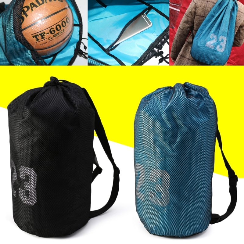 Basketball Bags For Balls Soccer Drawstring Fitness Outdoor Basketball Backpack 3