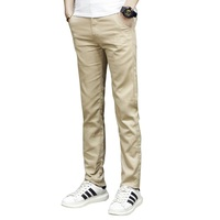 2016 New Men S Pants Fashion Mens Cargo Pants Chinos Men Casual Slim Fit Autumn Khaki