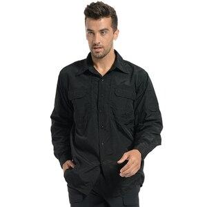 Image 3 - MEGE Brand Clothing, Summer Men Long Sleeve Shirt, Breathable Quick Dry Cargo Shirt, Camisa Social Masculina, Mens Dress Shirts