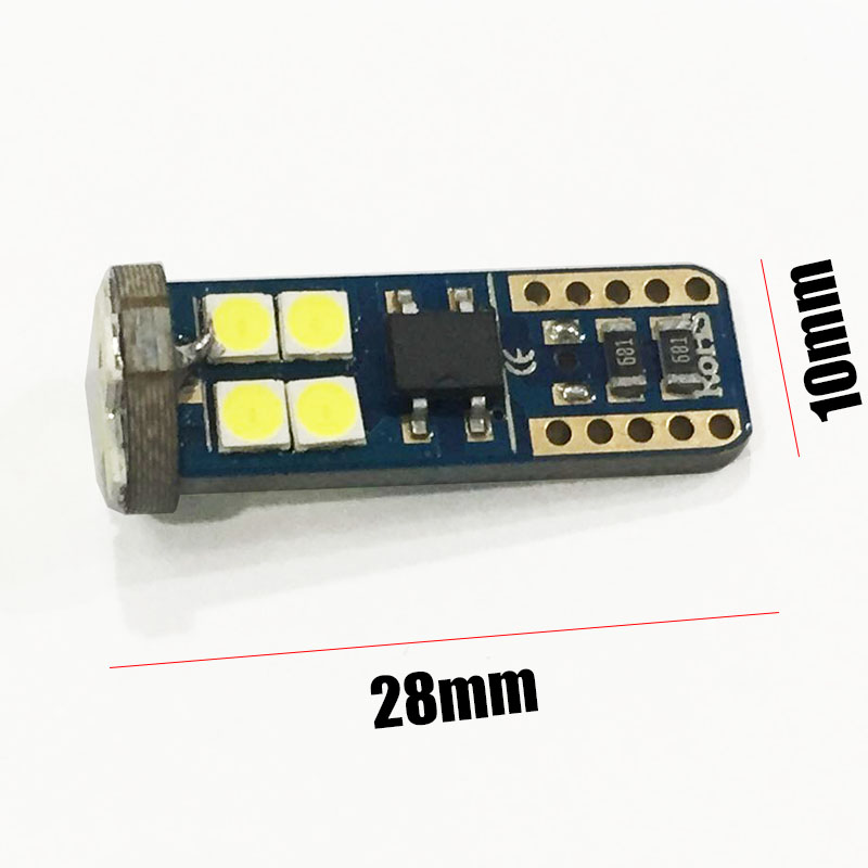 6pcs/lot 12SMD clearance lights car light auto T10 3030 LED canbus parking car side Lighting modification interior lamp A7 6500k