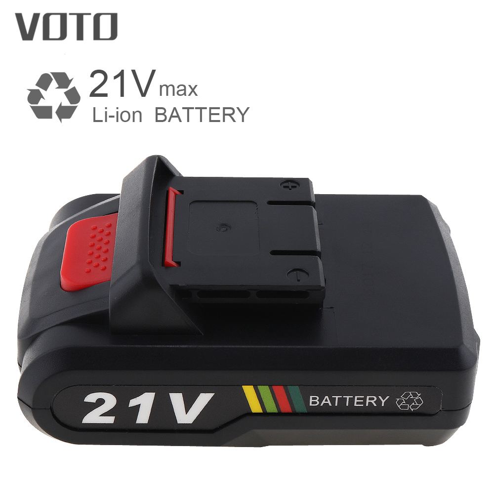 VOTO Universal 21V Max Li-ion Lithium Rechargeable Battery With Flat Push Type For Electric Drill / Electric Screwdriver