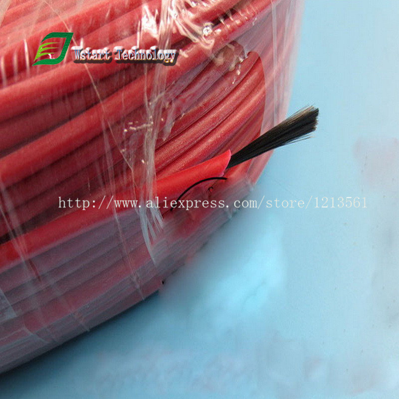 DHL Free shipping 200 meters New infrared heating floor heating cable system of 3mm Silicone carbon