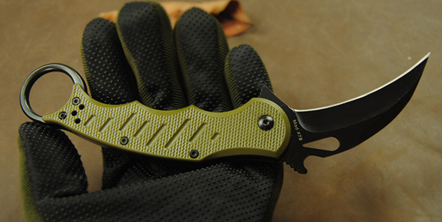 2019 Latest <font><b>Karambit</b></font> Folding Knife 5Cr13 blade <font><b>G10</b></font> handle Trainer Training Camping pocket Survival Hunting Tactical Knives EDC T image