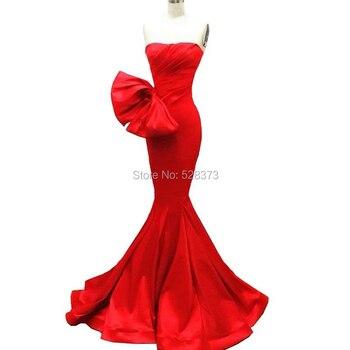 d3513bf04 YNQNFS ED126 imágenes reales elegante Vestido Longo sin mangas de sirena  Vestido de noche partido Vestido largo Red Carpet 2018