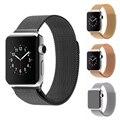 Luxo original milanese laço correia & ligação pulseira de aço inoxidável banda fecho ajustável para apple watch série 1 série 2