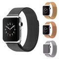Original Luxury Milanese Loop strap & Link Bracelet Stainless Steel Band Adjustable Closure for Apple watch Series 1 Series 2