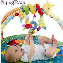 FlyingTown New Baby toy Crib Revolves Around The Bed Stroller Playing Toy Lathe Hanging Rattles