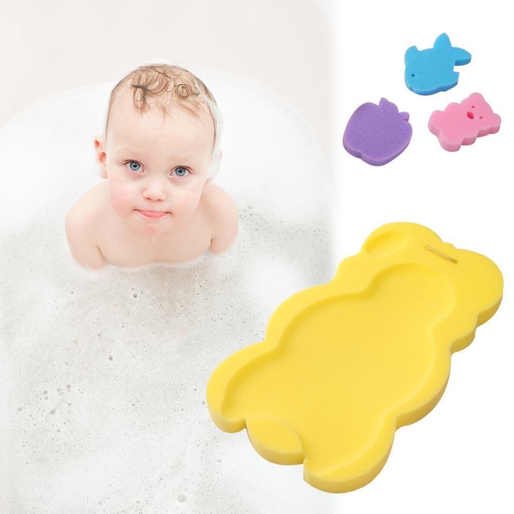 3pcs/pack Baby Infant Soft Bath Sponge Seat Cute Anti-Slip Foam Pad Mat Body Support Safety Kids Cushion Sponge Bathroom