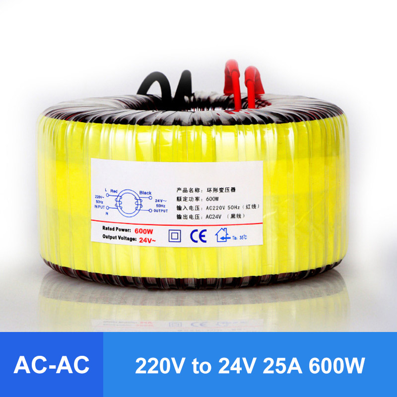 220V to 24V Single Phase Isolated AC Ring Transformer 600W Pure Copper Ring Power Transformer For Power Supply Amplifier220V to 24V Single Phase Isolated AC Ring Transformer 600W Pure Copper Ring Power Transformer For Power Supply Amplifier