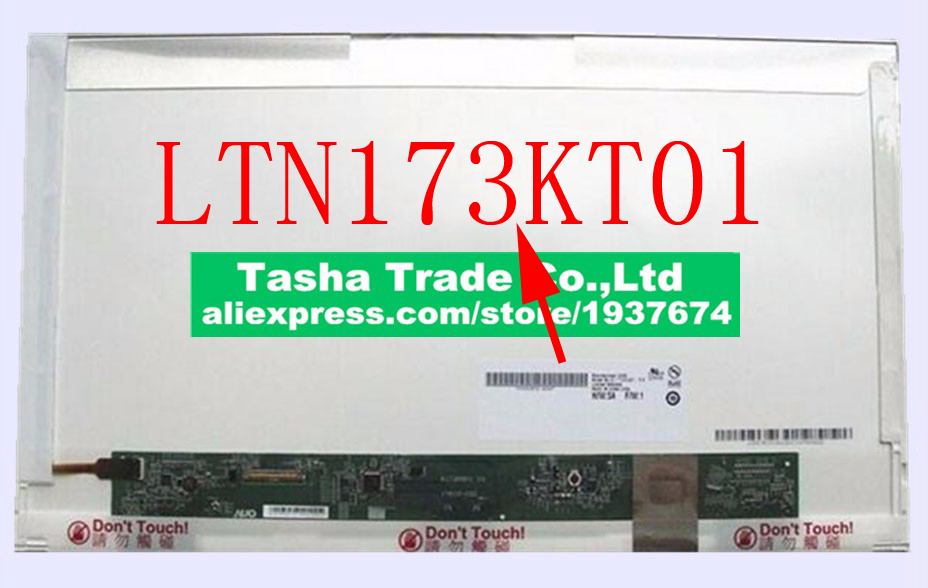 купить LTN173KT01 HD+ 1600*900 Matrix Laptop LCD Screen Replacement Original New недорого
