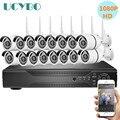 16ch Беспроводная ip-камера безопасности Система 1080P для домашнего видеонаблюдения комплект наружного видеонаблюдения для помещений 2.0MP wifi ка...