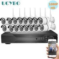 16ch беспроводной безопасности IP камера s системы 1080 P для дома cctv товары теле и видеонаблюдения комплект Крытый 2.0MP Wi Fi nvr комплект