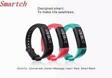 Smartch 2017 Bluetooth 4.0 Фитнес V11 смарт-браслет сердечного ритма Мониторы Smart Band вызова SMS текста напоминание браслет