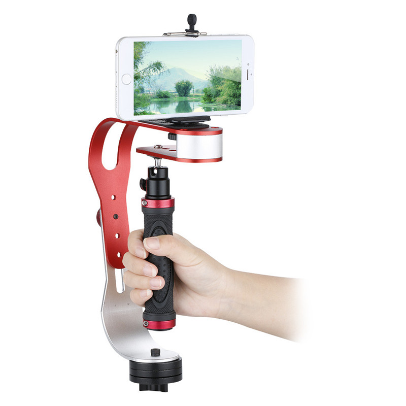 Craphy Video Handheld Stabilizer For Gopro Iphone DV Camera & Camcorder with Cell Phone Holder and 1/4 Tripod Adapter selfie ring light with cell phone holder for live stream and makeup led camera light with long arms for iphone android phone