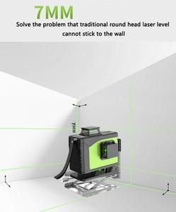 Image 5 - Professional 16Line 4D laser level 360 pionowy i poziomy poziom laserowy samopoziomujący krzyż linia 4D Laser Level z zewnątrz