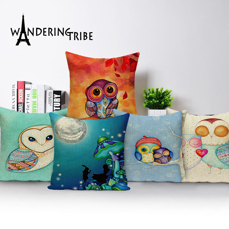 2017 New Sketch Pineapple Cotton Linen Sales Cushion Pillow Decorative Sofa Soft coussin scandinave45*45 Printing CushionCovers