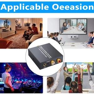 Image 4 - 3.5mm Jack 2RCA Coaxial Optical Fiber Digital To Analog Audio Converter Amplifier Decoder Digital Audio Decoder Adapter Protable