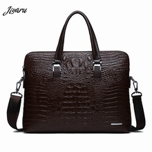 Men Briefcases Leather Crocodile Pattern Messenger Shoulder Bag Handbags Male Business Brand Briefcases Casual Men Laptop Bag