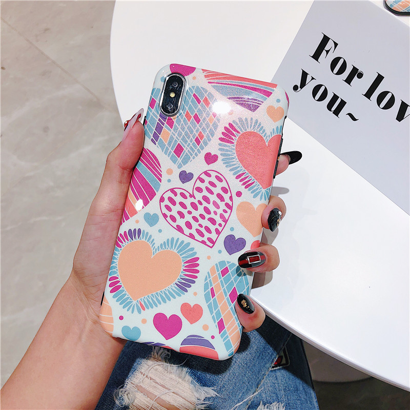 100PCS Love Heart Print Back Cover For iPhone 6 6S Plus Phone Case TPU Silicone IMD Cases Coque For iPhone 8 8 Plus XS MAX XR100PCS Love Heart Print Back Cover For iPhone 6 6S Plus Phone Case TPU Silicone IMD Cases Coque For iPhone 8 8 Plus XS MAX XR