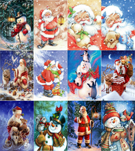 Santas Christmas Tree Diamond Embroidery DIY Needlework Full Painting Cross Stitch 5D Rhinestones Mosaic New Year
